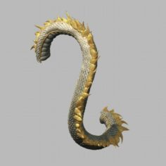 Novice village dragon tail 3D Model