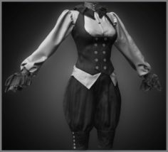 Realistic Steampunk Costume 3D Model