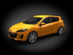 Mazda 3 2012 Hatchback 3D Model