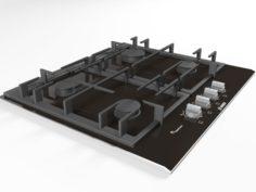 Cooktop 10 3D Model
