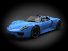 Porsche 918 2012 3D Model