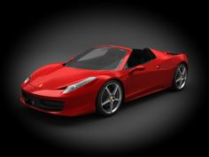 Ferrari 458 Spyder 2012 3D Model