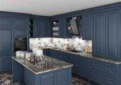 Classic Kitchen Cabinet 3D Model