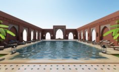 Traditional Moroccan Pool Marrakech 3D Model