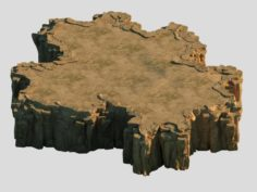 3D with the pixel – the cliff 02 3D Model