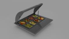 Salad Counter 3D Model
