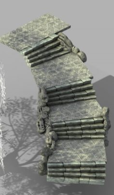 War Corps – Stone Stairs 01 3D Model
