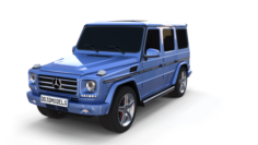 Mercedes Benz G Class Blue 3D Model