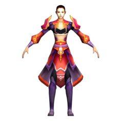 Game 3D Character – Apsara 04 3D Model