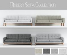 Modern Sofa Collection 3D Model