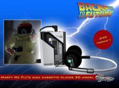 BTTF Aiwa Walkman 3D Model