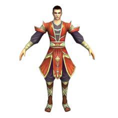 Game 3D Character – Male Taoist 03 3D Model
