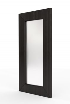 Large Wooden Wall Mirror 3D 3D Model