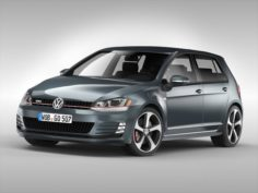 Volkswagen Golf GTI 2013 – 2017 3D Model
