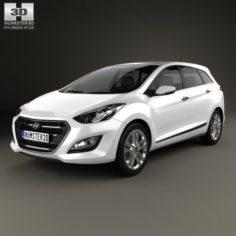 Hyundai i30 Elantra wagon 2015 3D Model
