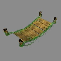 Koike town – Lanruo Temple – Vine Bridge 3D Model