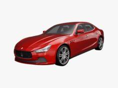 Maserati Ghibli 2014 3D Model