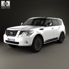 Nissan Patrol AE 2014 3D Model