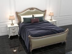 Bed European Designs 3D Model