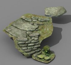 New Village – stone steps 04 3D Model