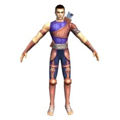Game 3D Character – Male Archer 01 3D Model