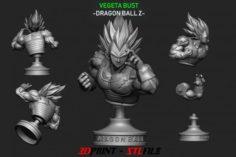 Vegeta Bust – dragonball Z 3D Model