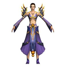 Game 3D Character – Female Mage 05 3D Model