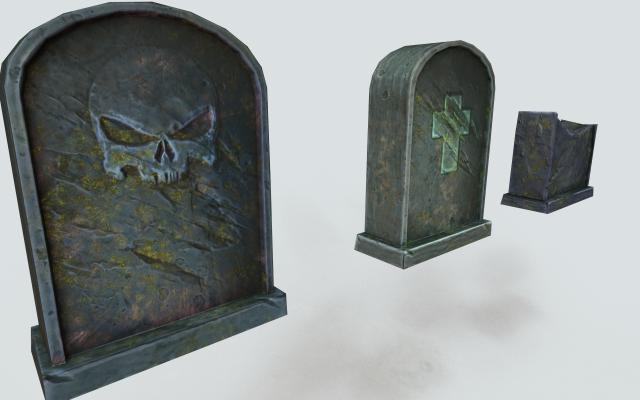 Spooky tombstone 3D Model