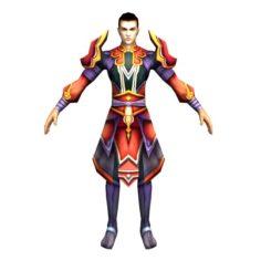 Game 3D Character – Male Taoist 04 3D Model