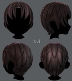 3D Hair style for boy V14 3D Model