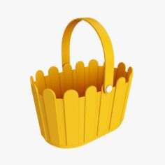 Plastic basket with handle 3D Model