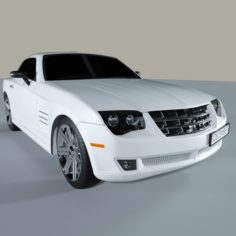 Sport Car White 3D Model