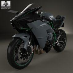 Kawasaki Ninja H2 R 2015 3D Model