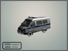 GAZelle 2705 Police 3D Model
