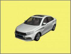 Lada Vesta 2015 3D Model