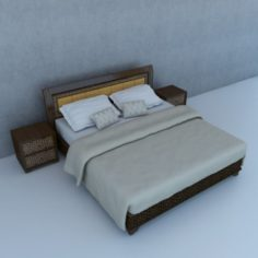 Traditional Moroccan Bed 3D Model