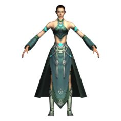 Game 3D Character – Female Mage 02 3D Model