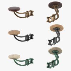 Vintage bar stool 3D Model