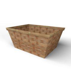 3D Wood Basket Decoration model 3D Model