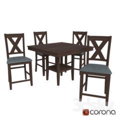 Tribeca 5 Piece Counter Height Dining Package                                      Free 3D Model