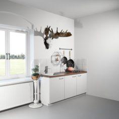 Little Kitchen Corner 3D Model