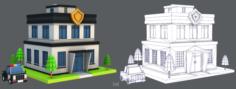 Police Building 3D Model
