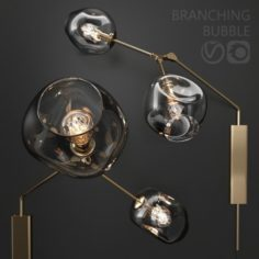 Bra Branching bubble DARK GOLD 3D Model