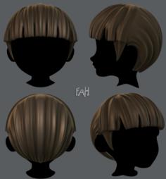 3D Hair style for boy V09 3D Model