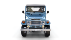Toyota Land Cruiser FJ 40 Soft Top with Interior and Chassis 3D Model