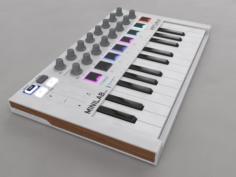 Keyboard Arturia MIiniLab mkII – C4D and VrayforC4D setup 3D Model