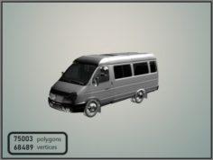 GAZelle 2705 Minibus 3D Model
