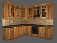 Classic Kitchen Design 3D Model