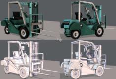 Forklift Cartoon 3D Model