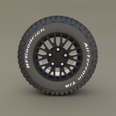 Kahn Wheel BF Goodrich Tire 3D Model